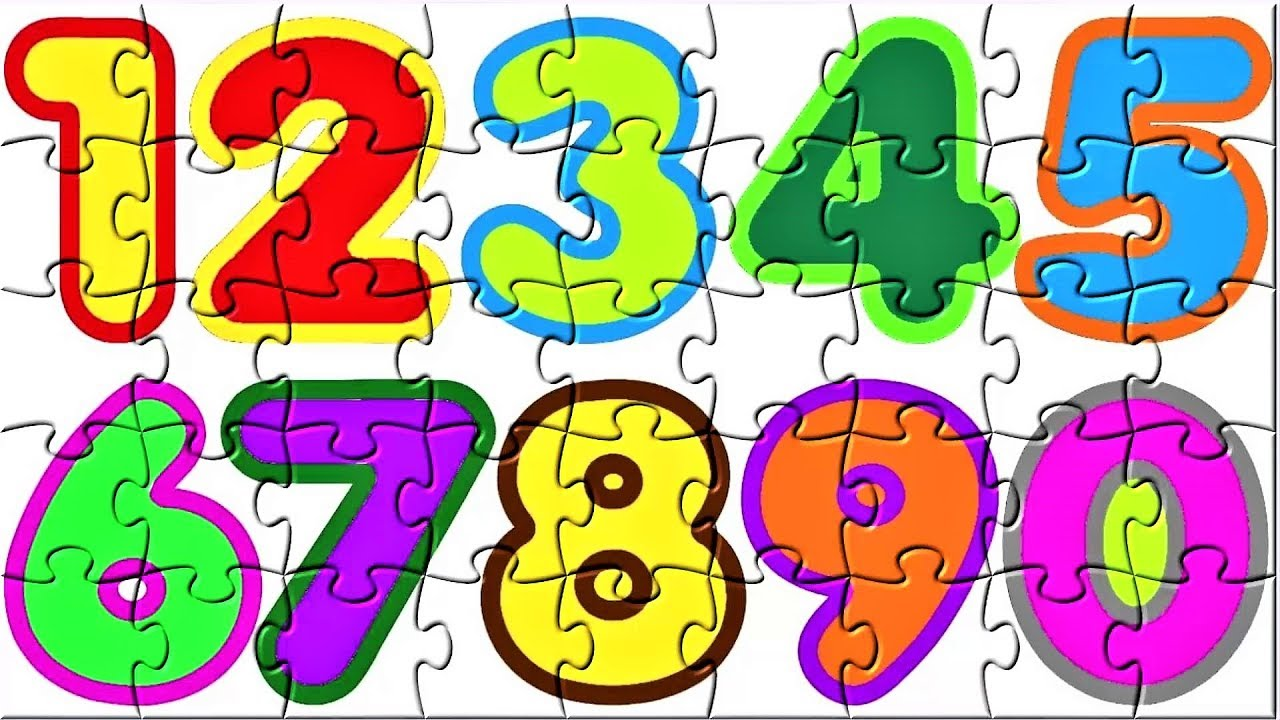 Puzzle clipart number puzzle. Numbers learn to count