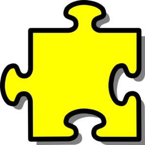 Puzzle clipart puzzle piece. Yellow clip art at