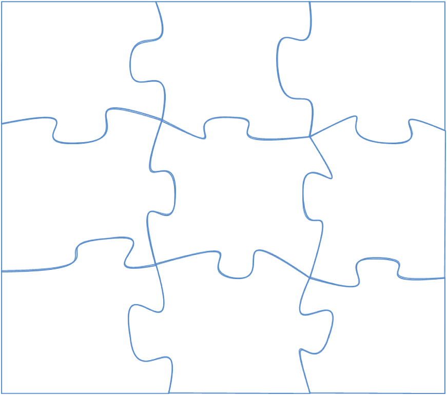 Autistic drawing map design. Jigsaw puzzle powerpointy next