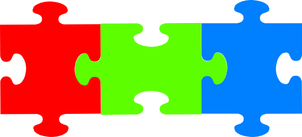 Puzzle clip art at. Pieces clipart graphic free