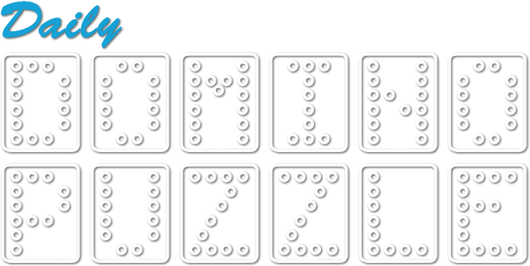 Puzzle transparent daily. Domino