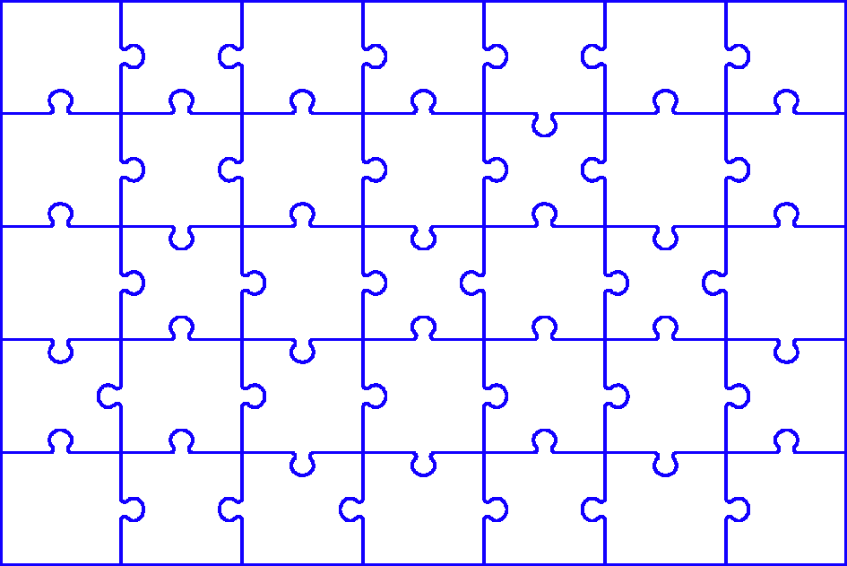 Puzzle transparent grid. Cutting an image into