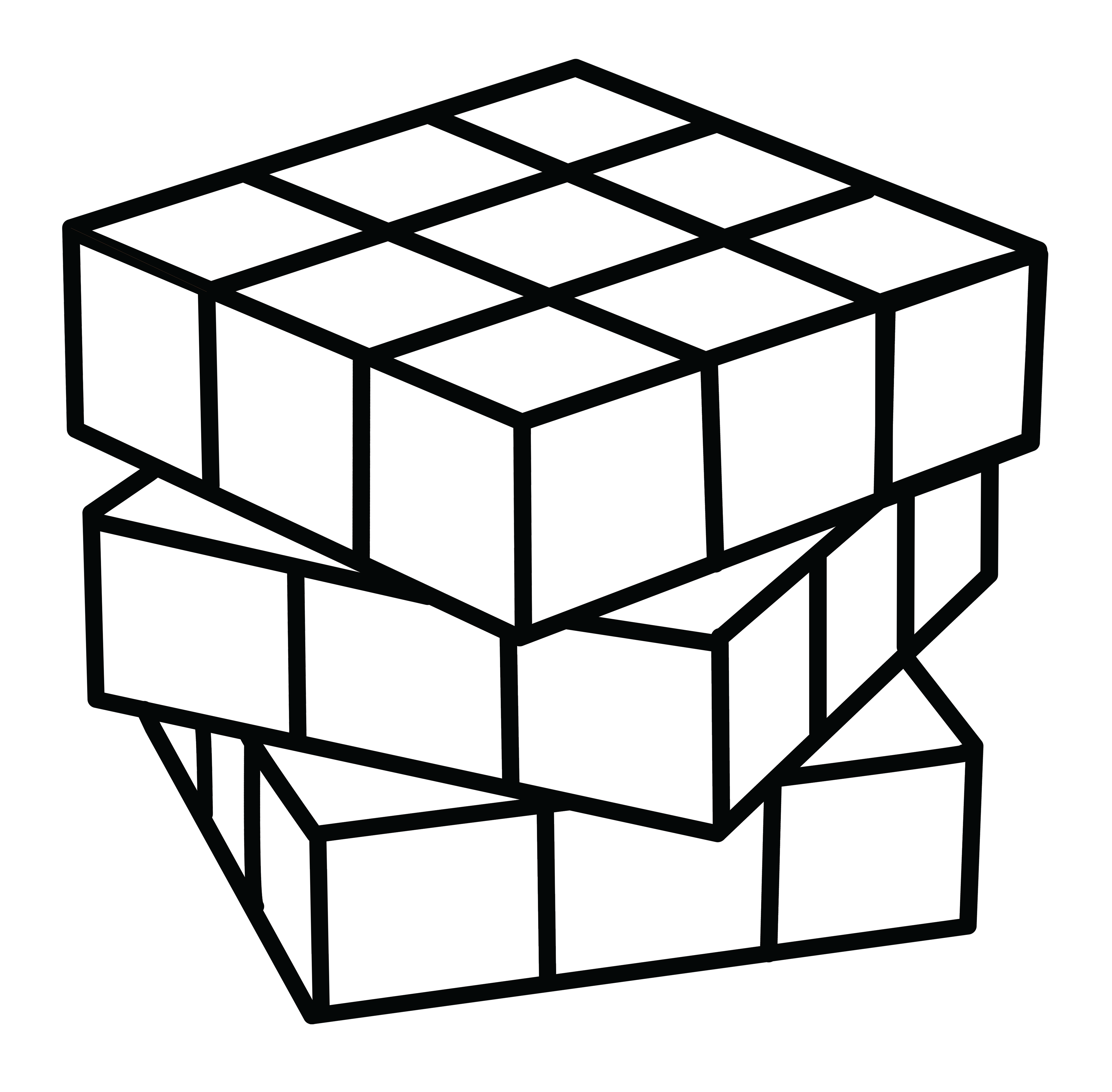 Puzzles clipart rubik's cube. Rubiks coloring page free