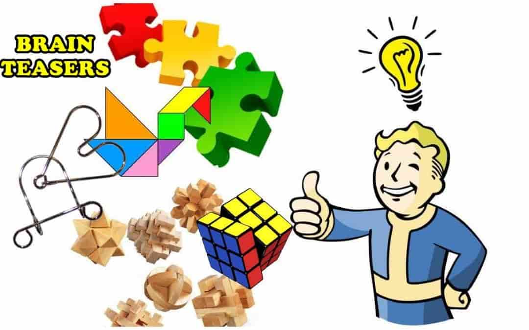 Puzzles clipart scenario. Brain teasers for adults