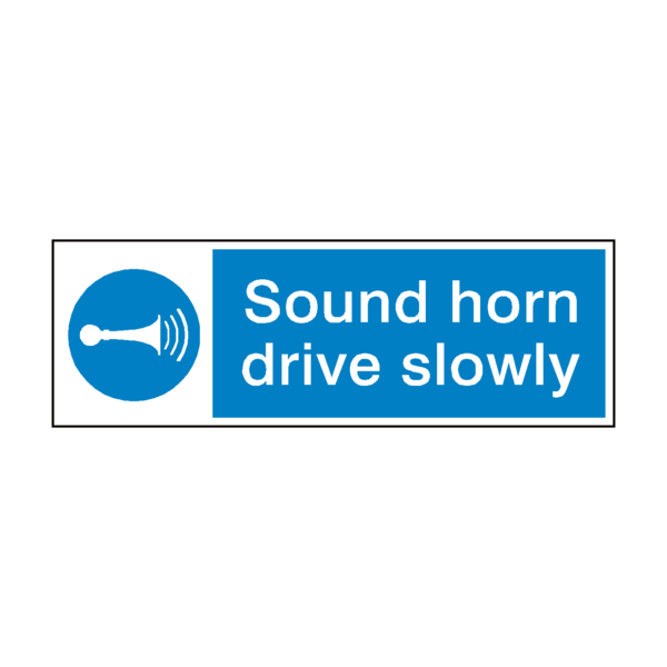 Pvc horn png. Sound drive slowly sign