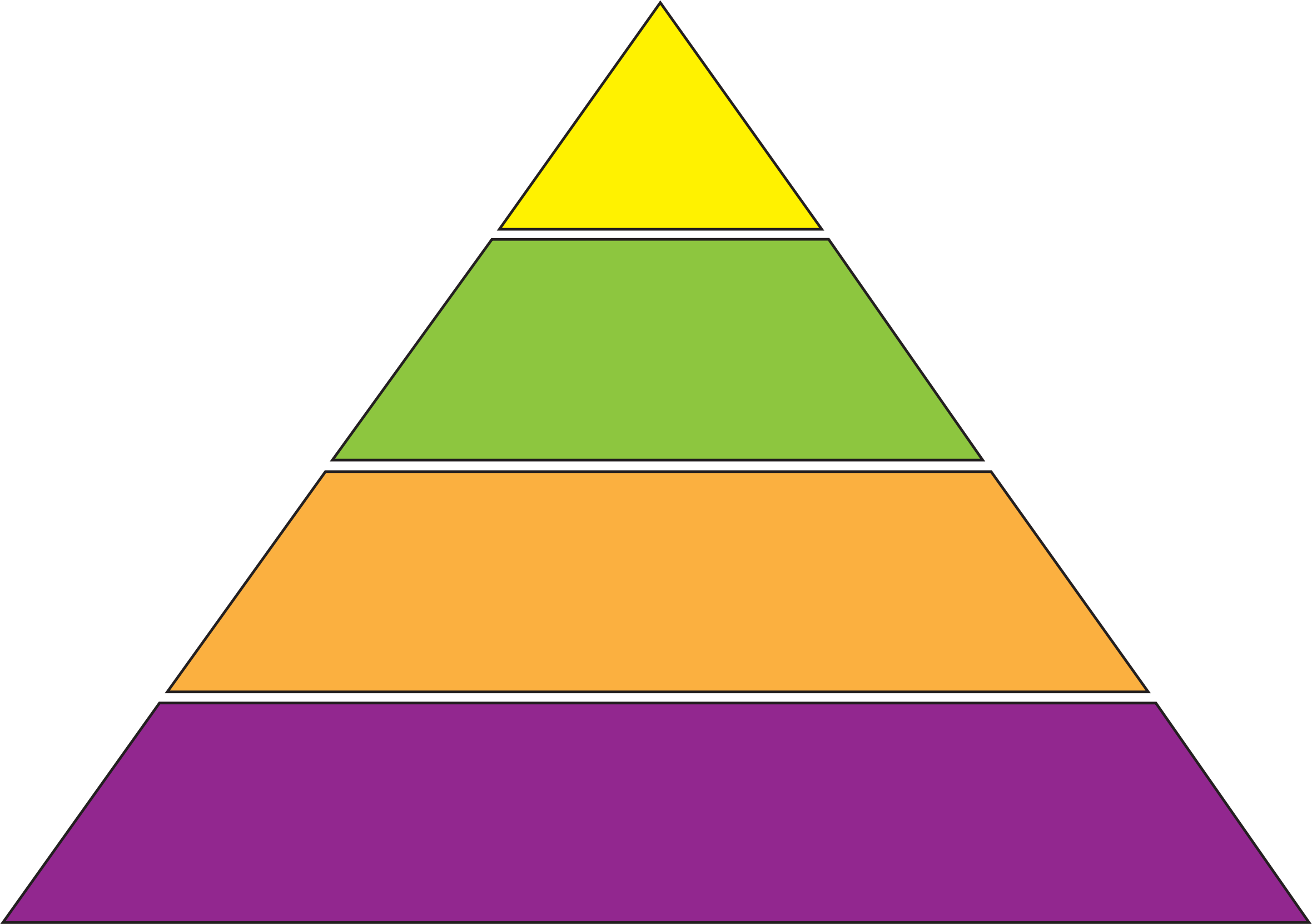 Transparent pyramid empty energy. Clipart
