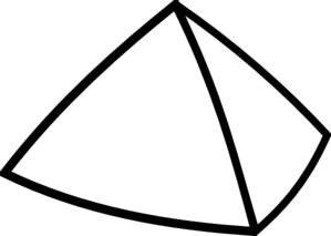 Transparent pyramid black and white. Clipart panda free images