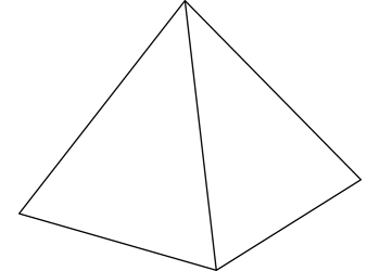 Art activities d shape. Pyramid clipart square based pyramid clip black and white library
