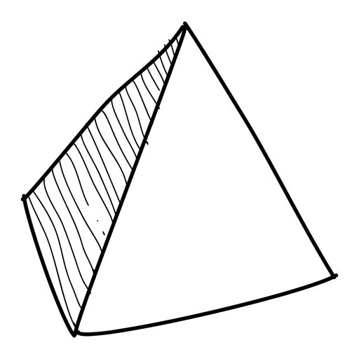 Pyramid png. Hand drawn icon transparent