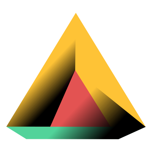 Transparent pyramid vector. Triangle d illustration png