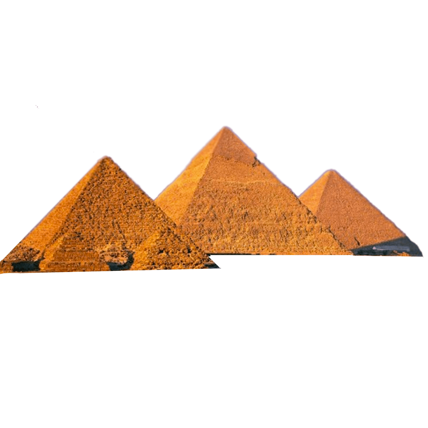 transparent pyramid three