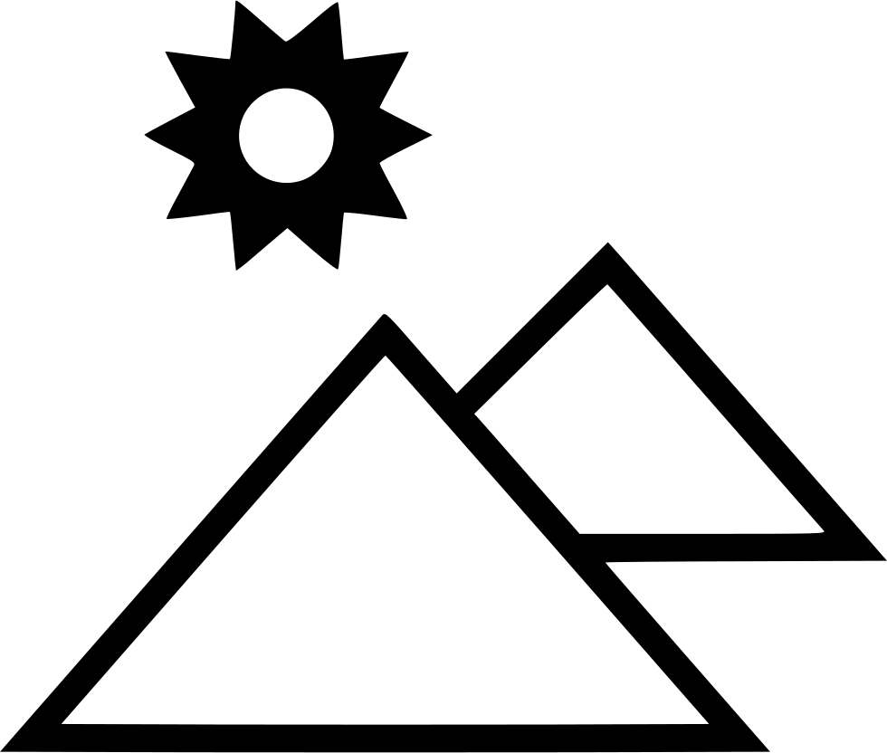 Sun egyptian culture egypt. Pyramids clipart svg image black and white