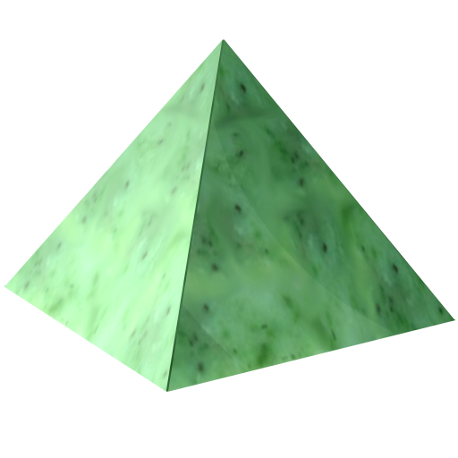 Transparent pyramid crystal. Png images all clipart