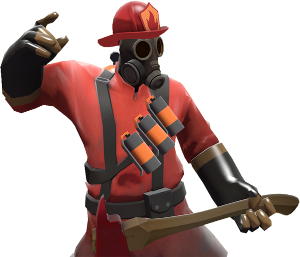 Pyro transparent. Image with the brigade