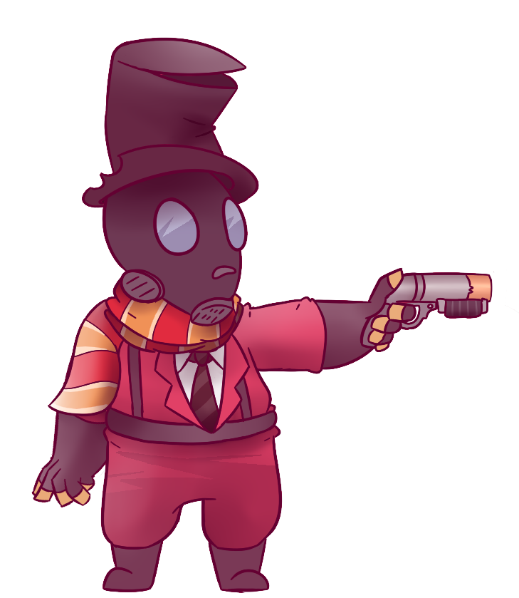 Pyro transparent. Dapper by runingfromlions on