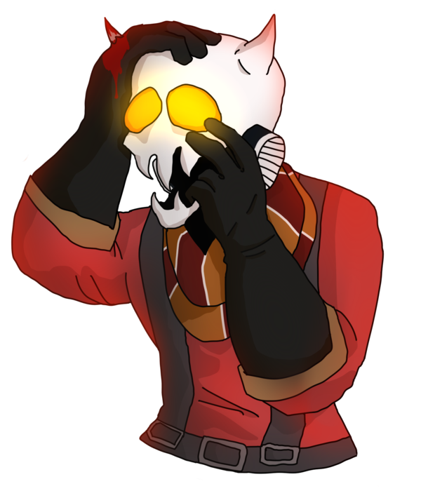 Pyro transparent angry. Spooky scary by huntsman