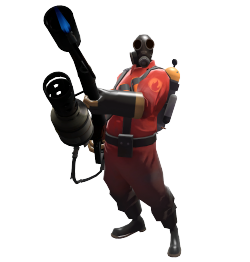 Pyro transparent blue. Team fortress villains wiki
