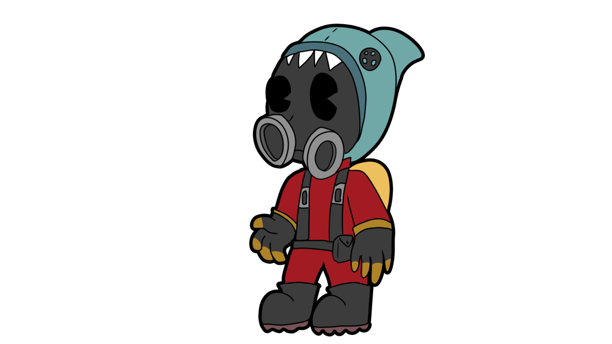 Pyro transparent cartoon. In the style by