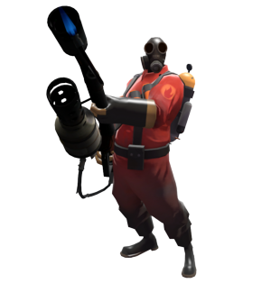 Pyro transparent holding. The team fortress deadliest