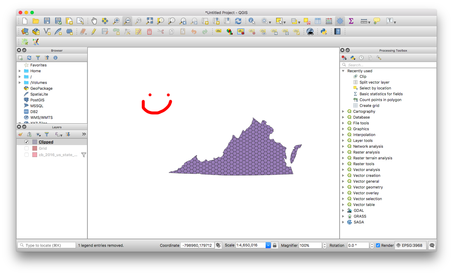 Clipping a hex grid. Qgis clip royalty free download