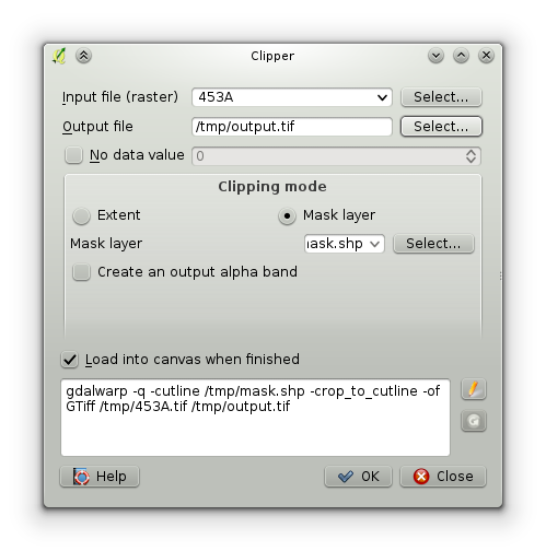 Clipping raster image increases. Qgis clip cutline image library stock