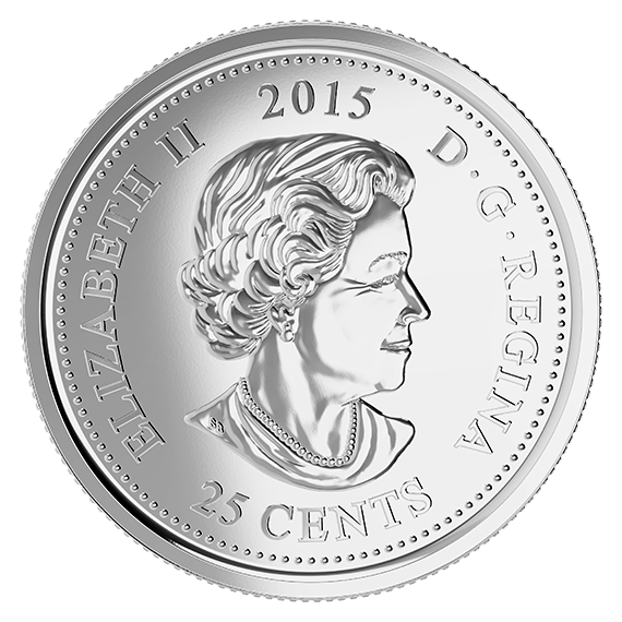 Quarter drawing coin. Remembrance pack in