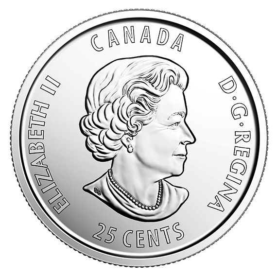 Quarter drawing coin canadian. Th anniversary of