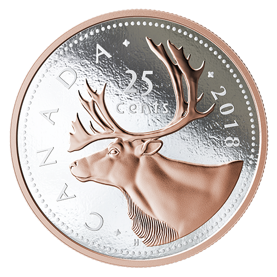 Quarter drawing coin canadian. Big series subscription caribou