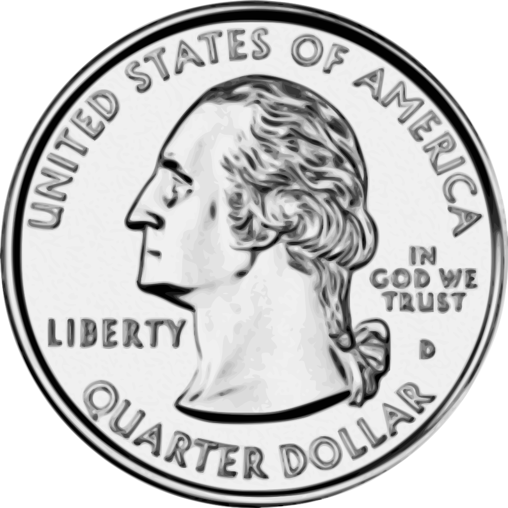 Quarter drawing large. Onlinelabels clip art united