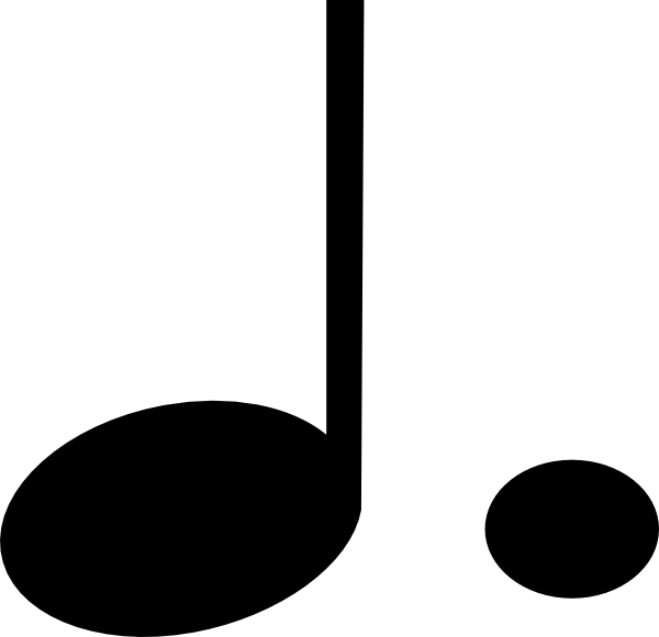 Quarter note png. Dotted clip art at