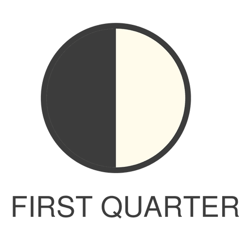 Quarter vector. Moon first icon transparent