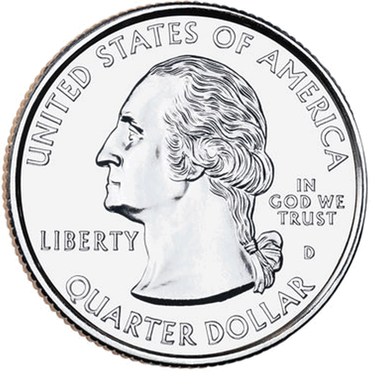 Quarter png siede. Collection of front