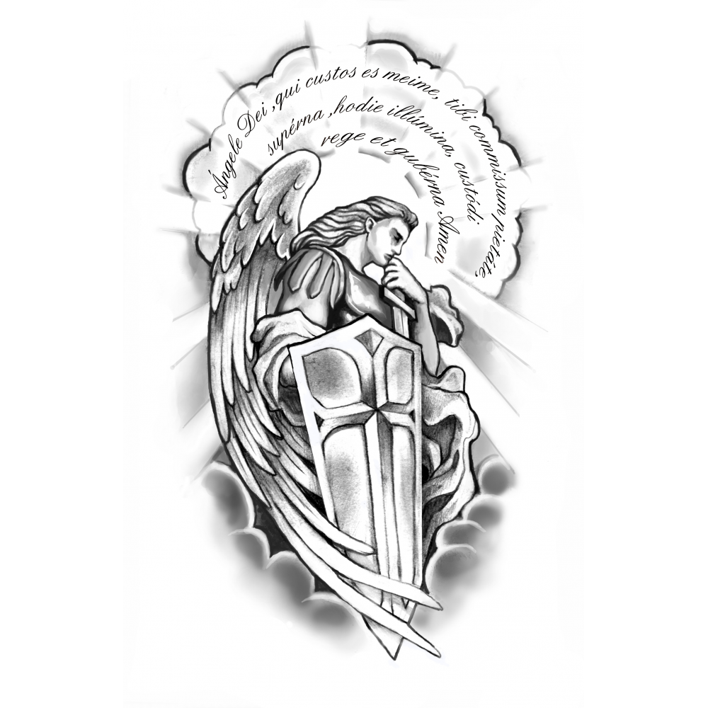 Quarter sleeve tattoo png. Black and grey ideas