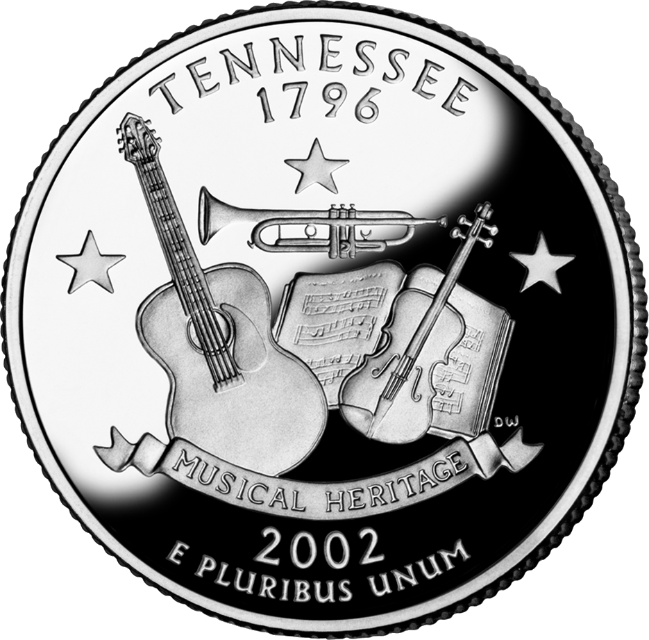 Tennessee drawing statehood. State quarter sell