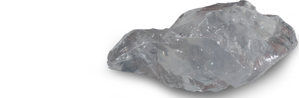 transparent mineral quarts
