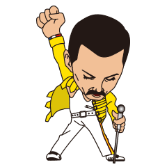 Queen band png. Official sticker line stickers