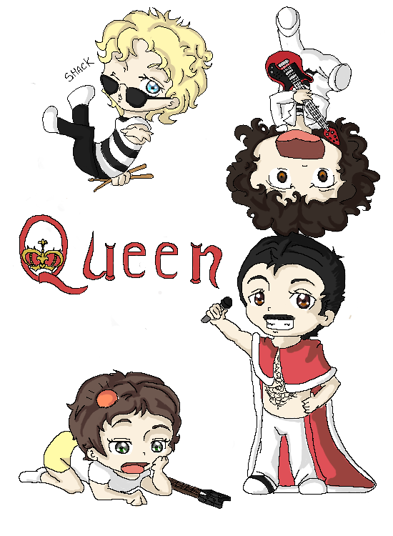 Queen band png. Chibi by winchick on