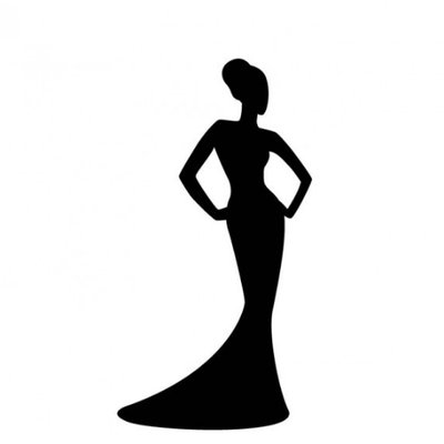 Beauty silhouette at getdrawings. Queen clipart beautiful queen vector black and white stock