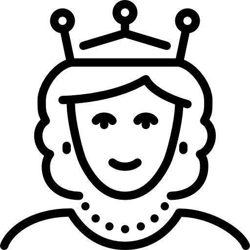 Queen clipart black and white. Station