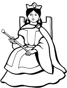 Queen clipart black and white. Spanish panda free images