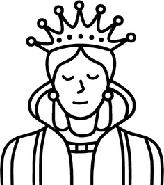 Queen clipart black and white. Clip art panda free