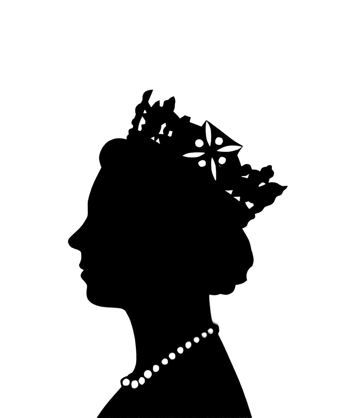 Queen clipart head. Couture craft queens cameo