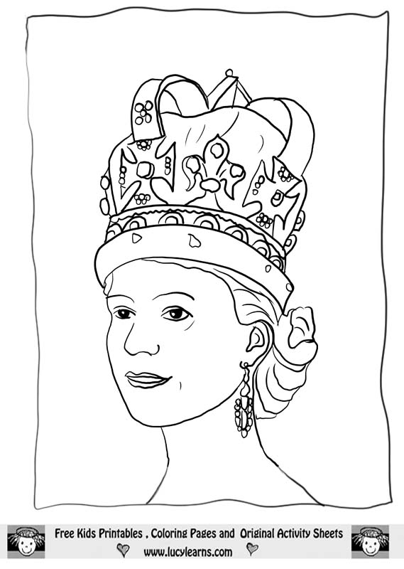 Queen clipart outline. Crown coloring page getcoloringpages