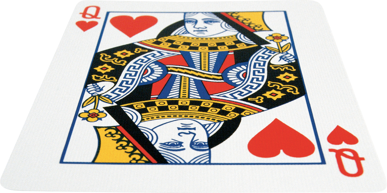 Queen playing cards png. Card game of hearts