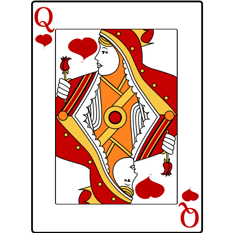 Queen playing cards png. Of hearts by casino