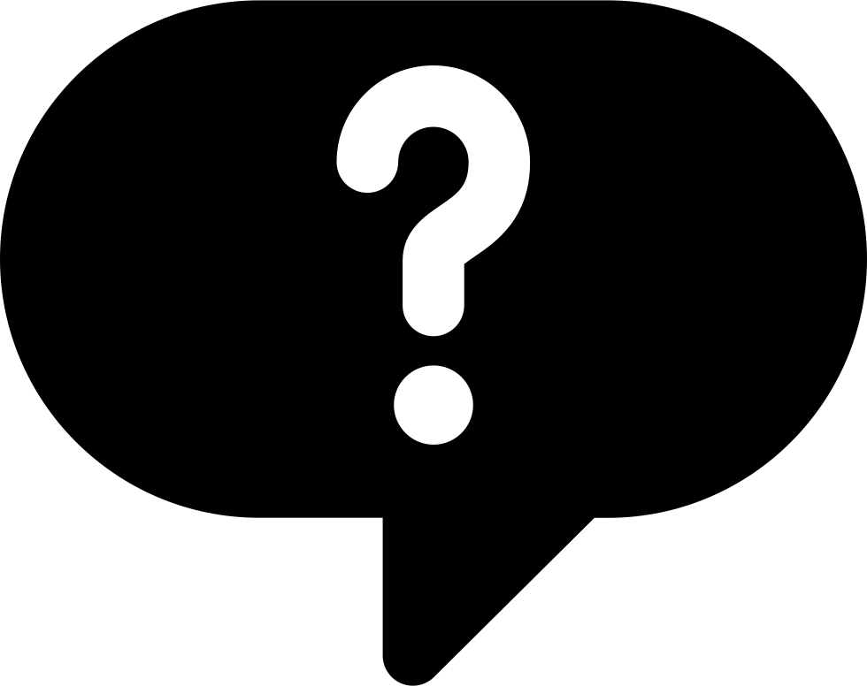 Question mark white png. Speech bubble with svg