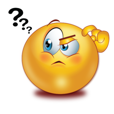 Question clipart emoji. Thinking face with mark