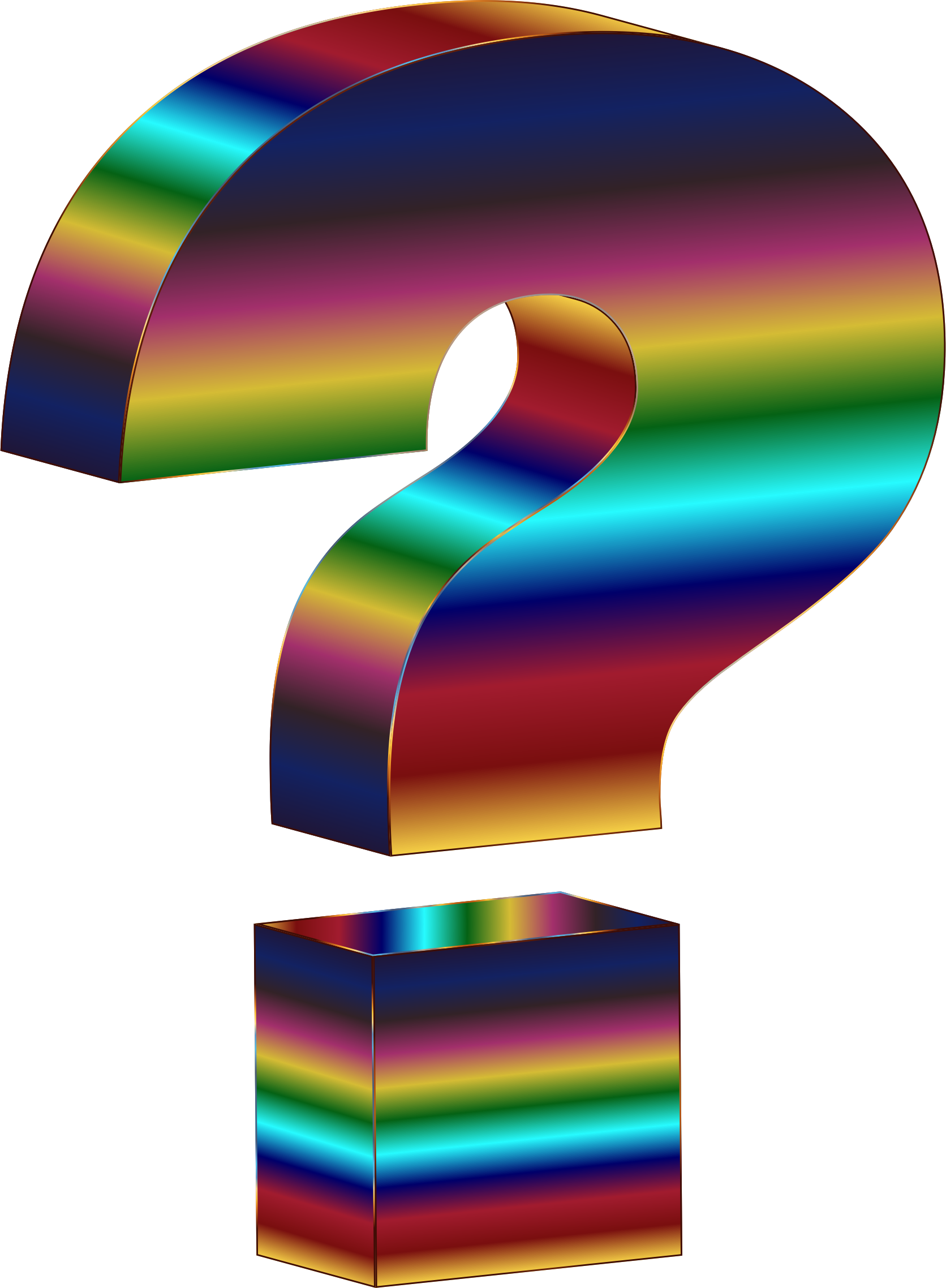 Question mark 3d png. Clipart psychedelic d big