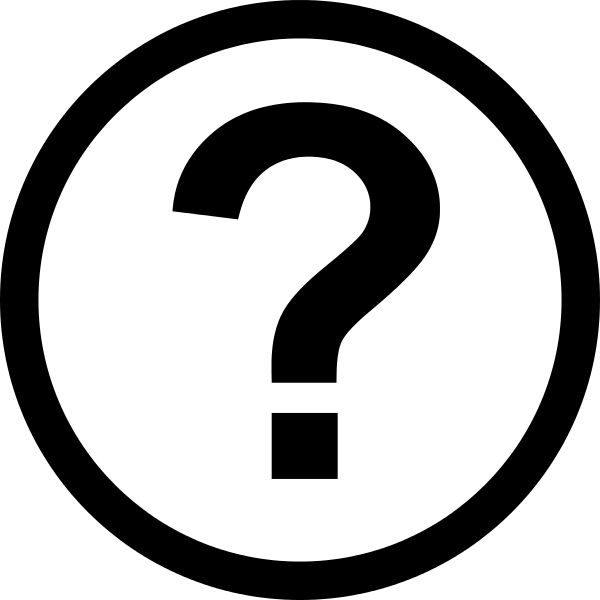 File icon round svg. Question mark png white image free library