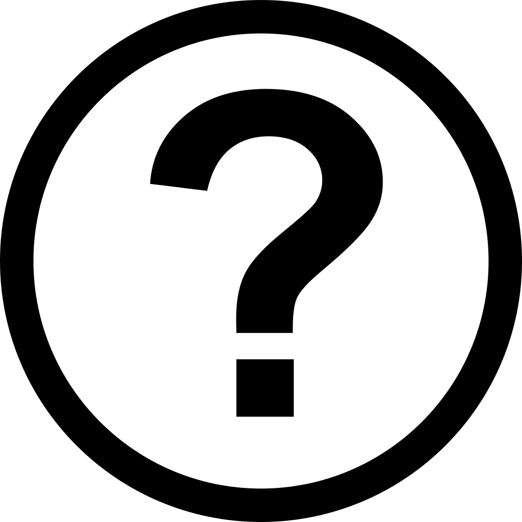 File icon round svg. Question mark png white black and white library